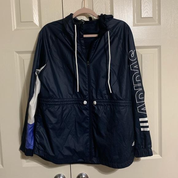 adidas Jackets & Blazers - Adidas Zip Up Hooded Windbreaker